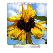 Crazy Sunflower Look Shower Curtain