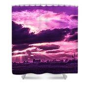 Crazy Sunset  Shower Curtain