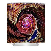 Crazy Swirl Art Shower Curtain
