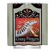 Crazyfingers_frame1 Shower Curtain