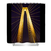 Crb Golden Tower Shower Curtain