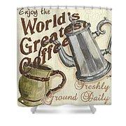 Cream Coffee 1 Shower Curtain by Debbie DeWitt