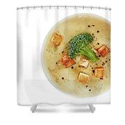 Cream Of Broccoli Soup Shower Curtain