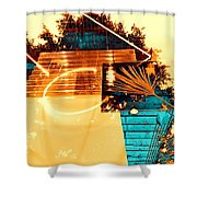 Cream Reflections Shower Curtain