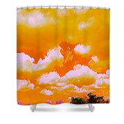 Creamsicle Sky Shower Curtain