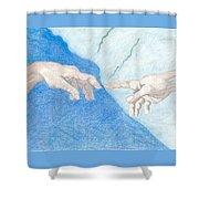 The Creation Hands Sistine Chapel Michelangelo Shower Curtain
