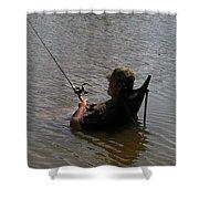 Creative Fishing Shower Curtain