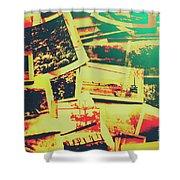 Creative Retro Film Photography Background Shower Curtain