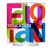 Creative Title - Education Shower Curtain