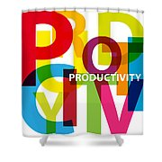 Creative Title - Productivity Shower Curtain