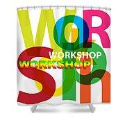 Creative Title - Workshop Shower Curtain