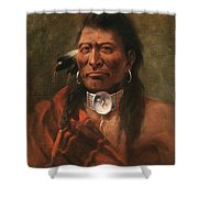 Cree Chief Shower Curtain by Edgar S Paxson