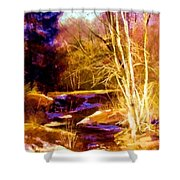 Creek At Wolf Shower Curtain