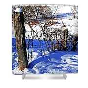 Creek Fenceline Shower Curtain