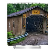 Creek Road Bridge Shower Curtain