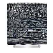 Creepy Cabin In The Woods Shower Curtain