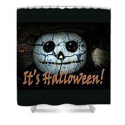 Creepy Halloween Pumpkin Shower Curtain