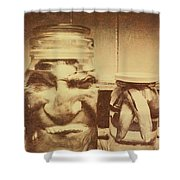 creepy halloween scenes shower curtain