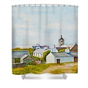 Cregneash And St Peters Church Shower Curtain