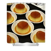 Creme Caramel Dessert Shower Curtain