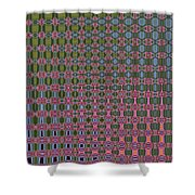 Crepe Myrtle Abstract Shower Curtain