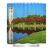 Crepe Myrtle Row Shower Curtain