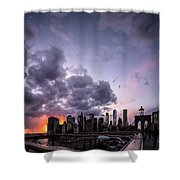 Crepsucular Nights Shower Curtain