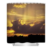 Crepuscular Rays Of Sunlight Shower Curtain