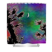 Crescent And Palms 2 Shower Curtain