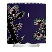 Crescent And Palms Shower Curtain