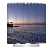 Crescent Bay Sunrise Shower Curtain