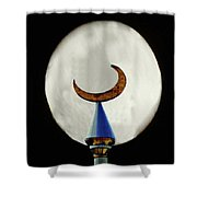 Crescent Full Moon Shower Curtain