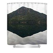 Crescent Lake Reflection Shower Curtain