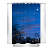Crescent Moon At Sundown Shower Curtain