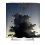 Crescent Moon Over A Storm Cloud Shower Curtain