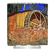 Crescent Moon Ranch Water Wheel Shower Curtain