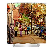 Crescent Street Montreal Shower Curtain