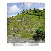 Cressbrook Dale Opposite To Tansley Dale Shower Curtain