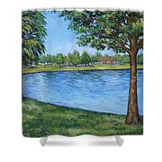 Crest Lake Park Shower Curtain
