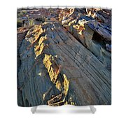 Crest Of Sandstone Wave At Sunset In Valley Of Fire Shower Curtain