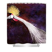 Crested Bird Shower Curtain