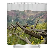 Crested Butte Color Shower Curtain