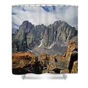 210925-crestone Needle And Peak  Shower Curtain