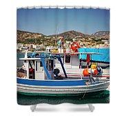 Crete Fishing Boats Shower Curtain