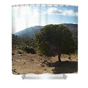 Crete Inland View Shower Curtain
