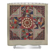 Crib Coverlet Shower Curtain
