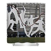 Cricket Art Sculpture Southampton Shower Curtain