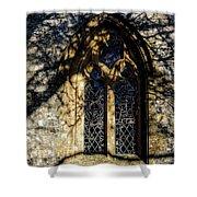 Cricket St Thomas Church Window Shower Curtain