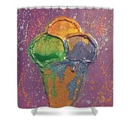 Crill's Ice C.r.e.a.m. Shower Curtain