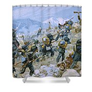 Crimean War And The Battle Of Chernaya Shower Curtain by Italian School